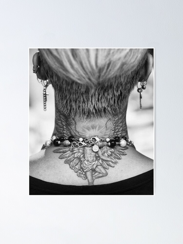 G Dragon Neck Tattoo : dragon, tattoo, G-Dragon, Tattoo, Poster, TehTehB, Redbubble