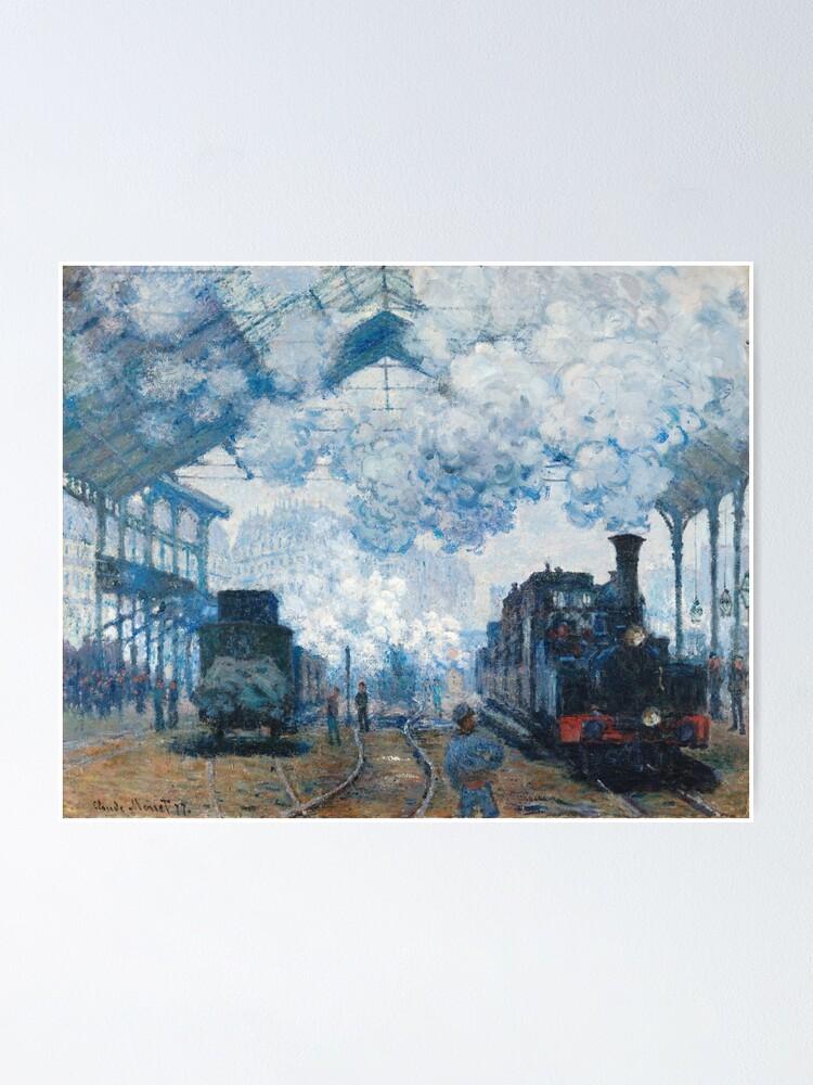 Claude Monet Gare Saint Lazare : claude, monet, saint, lazare, Claude, Monet, Saint-Lazare, Arrival, Train