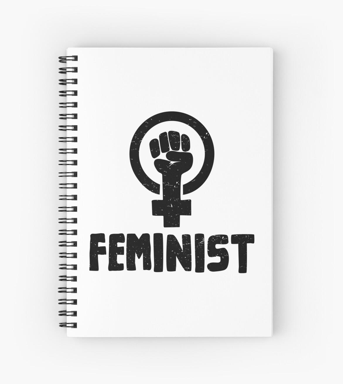 raised fist feminist logo