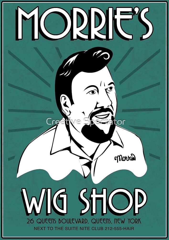 Goodfellas Morries Wigs Shop Sign Tshirt  by Creative