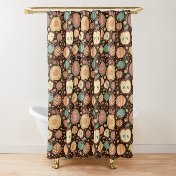 pale desaturated blue shower curtains redbubble
