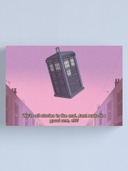 Aesthetic 80s Anime Tardis Canvas Print by Loneira Redbubble