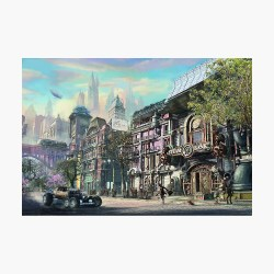 Steampunk Fantasy Town from Fonebook Poster by Fonebook Redbubble