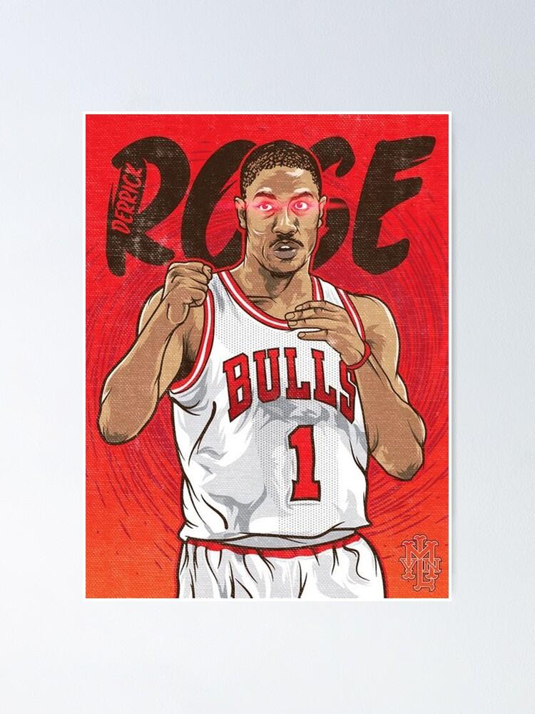 derrick rose poster by dalgonaviral redbubble