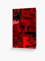 Dark red aesthetic Greeting Card by philomenax Redbubble