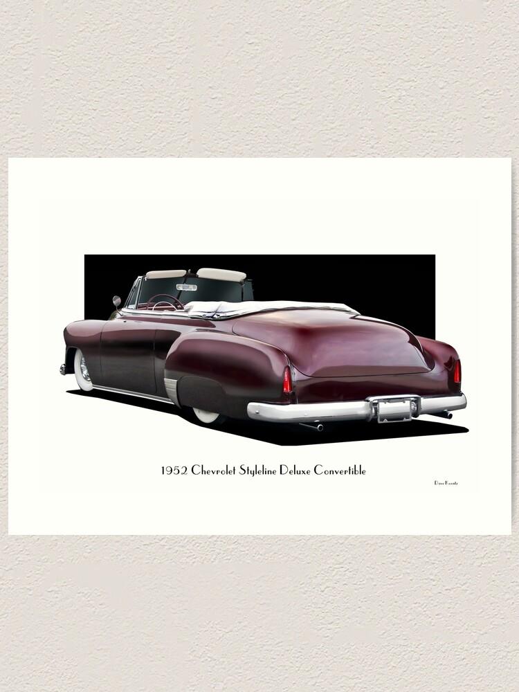 1952 Chevy Convertible : chevy, convertible, Chevrolet, Styleline, Deluxe, Convertible, 'Rear'