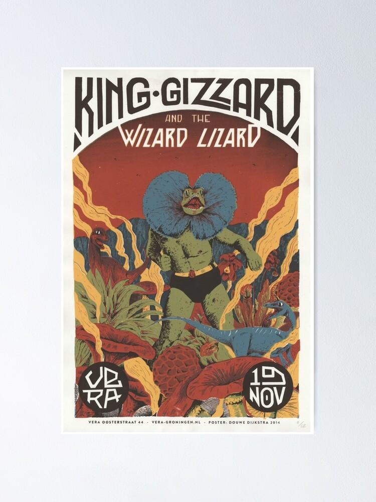 king gizzard und das lizard wizard tour poster poster von josh85wilkins redbubble