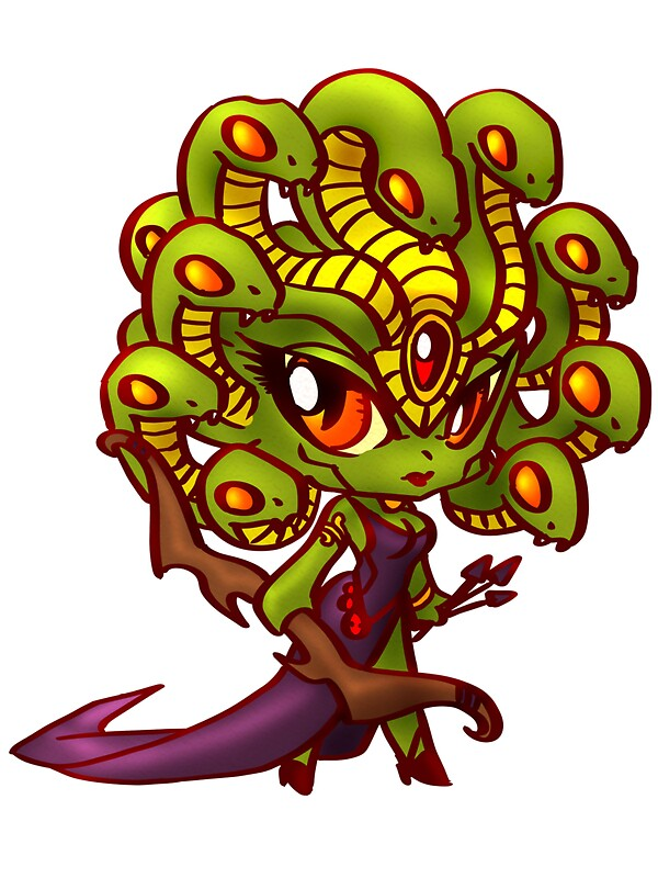 Chibi Medusa Stickers By Figment Forms Redbubble
