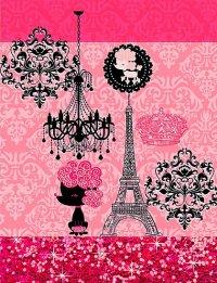 """""""French Girly Eiffel Tower, Poodle & Damask Elegant ..."""