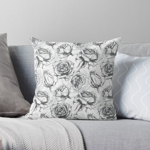 Beautiful roses on Throw Pillow