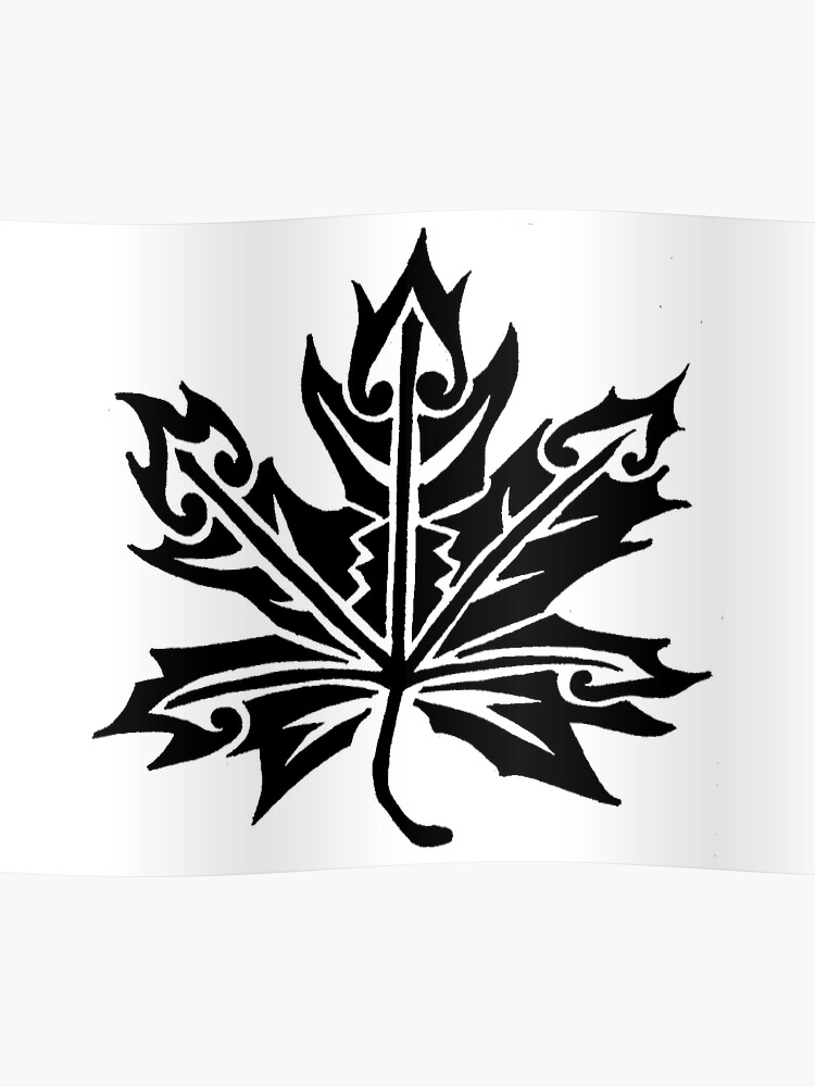 maple leaf tribal design