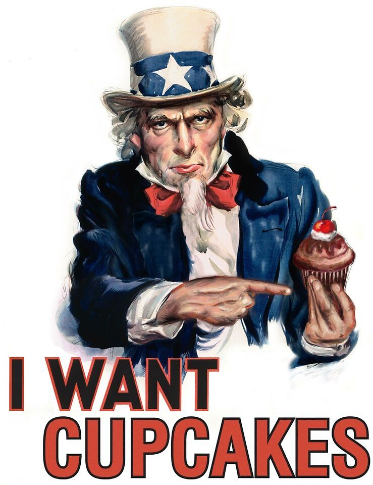 Uncle Sams Cupcake By Cupcake Couture Redbubble