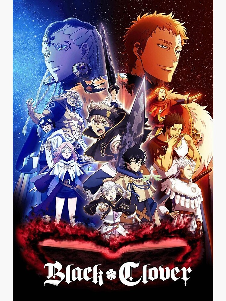 Black-clover-24-vostfr : black-clover-24-vostfr, Black, Clover, Posters, Redbubble