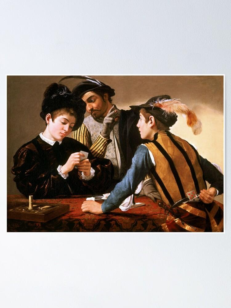 Les Tricheurs (le Caravage) : tricheurs, caravage), Poster, Tricheurs, Caravage, 1594., Arthistory, Redbubble