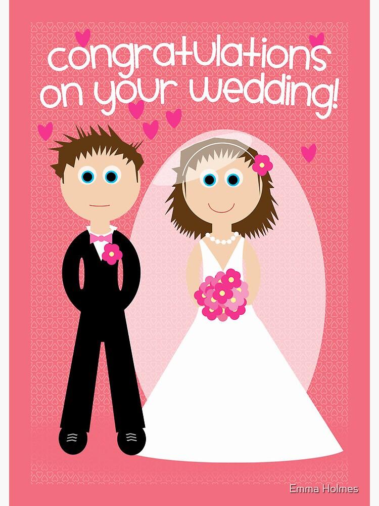Wedding Congratulations On Your Wedding Greeting Card By Elholmescards Redbubble