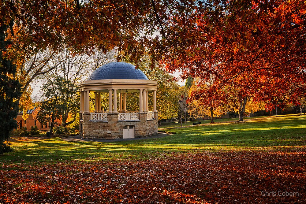 Rotunda in St Davids Park Hobart Tasmania by Chris