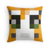 """""""Stampy Minecraft skin"""" Throw Pillows by youtubedesign ..."""