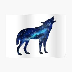 Galaxy Wolf Posters Redbubble