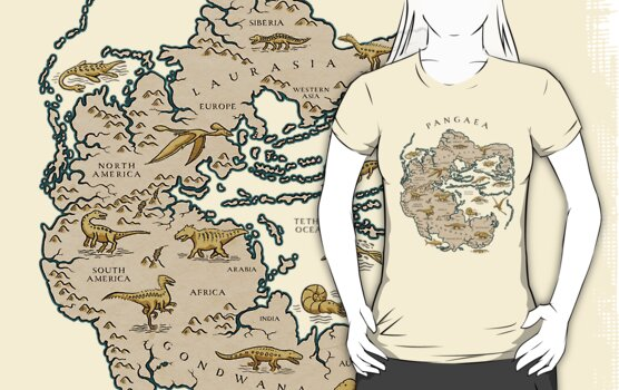 Map Of The Supercontinent Pangaea T Shirts Amp Hoo S By