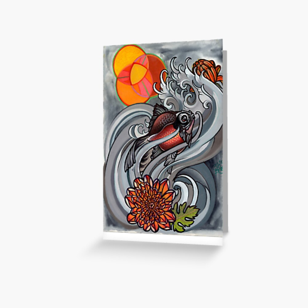 medium resolution of  venn diagram goldfish tattoo flash greeting card by resonanteye redbubble