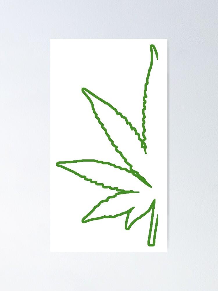 Small Pot Leaf Drawing : small, drawing, Marijuana, Leaf