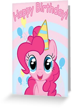 """Pinkie Pie Birthday Card Postcard My Little Pony"