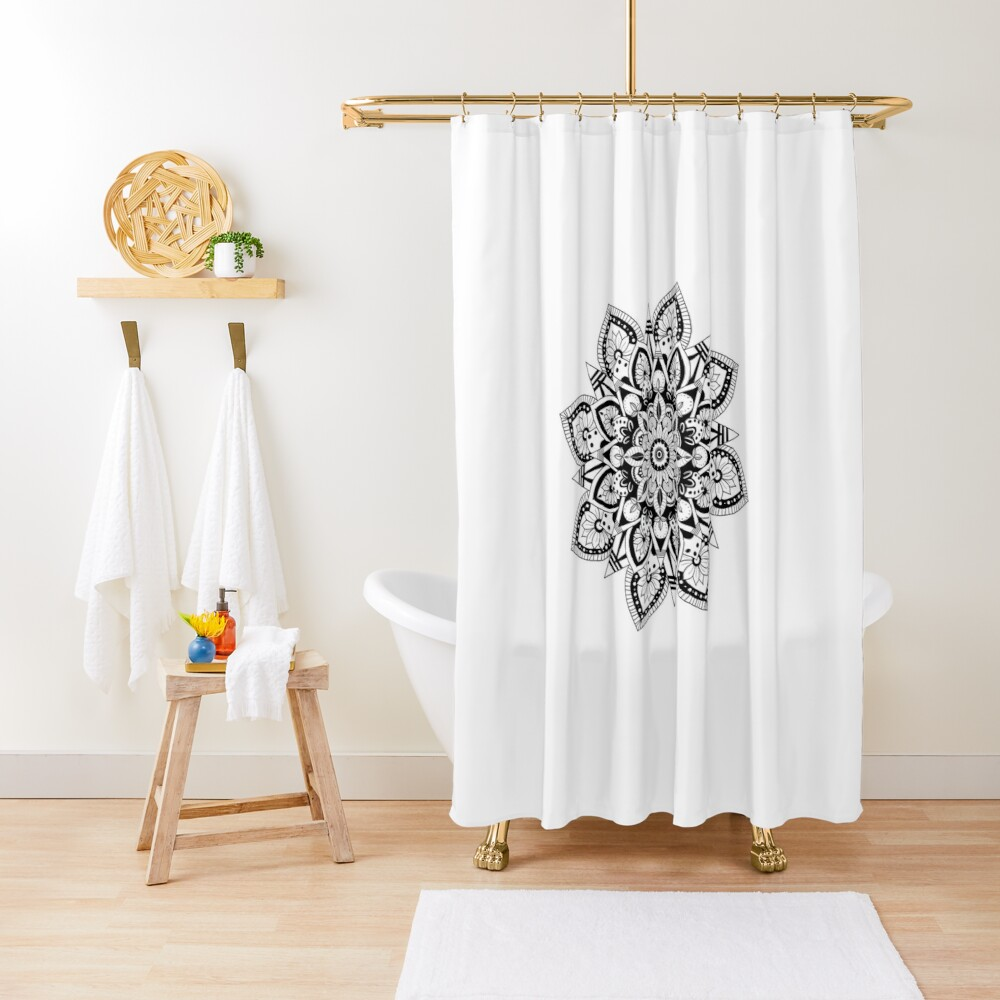 mandala shower curtain by ironicgentlemen redbubble