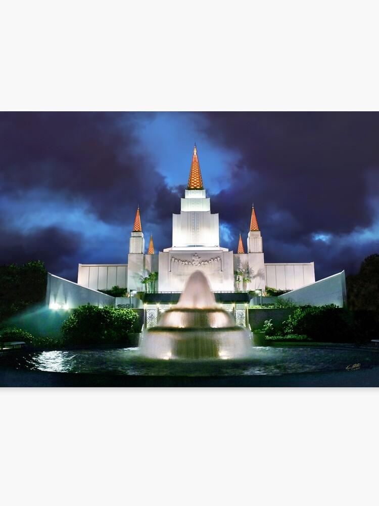 oakland temple blue sunset