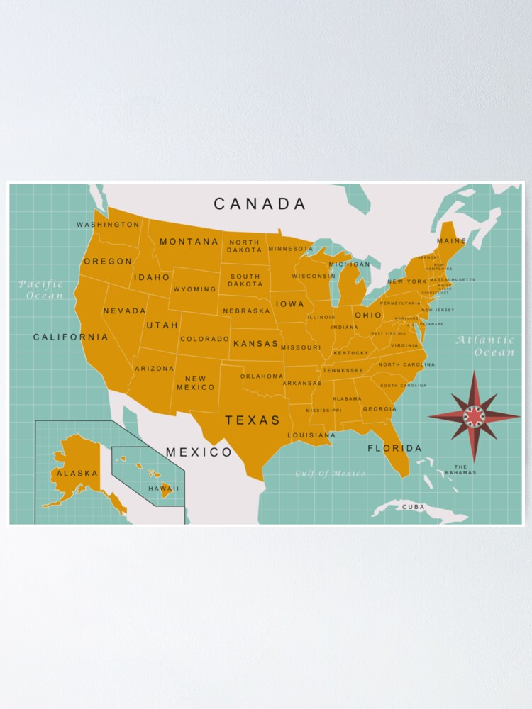 us map poster by jgoo redbubble