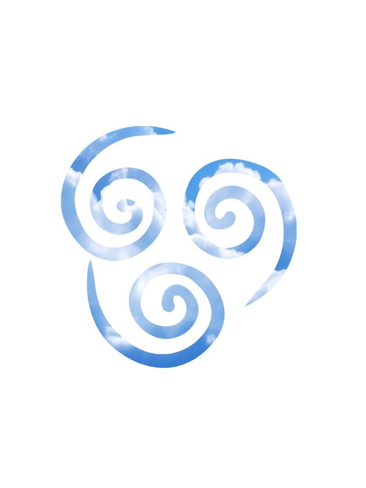 Airbender Logo : airbender, Airbending, (Avatar, Airbender), T-Shirt, Zchamar, Redbubble