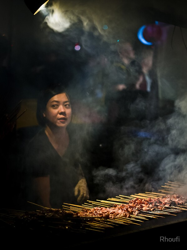 Satay Vendor - White Night