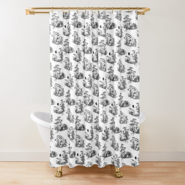 de jouy shower curtains redbubble