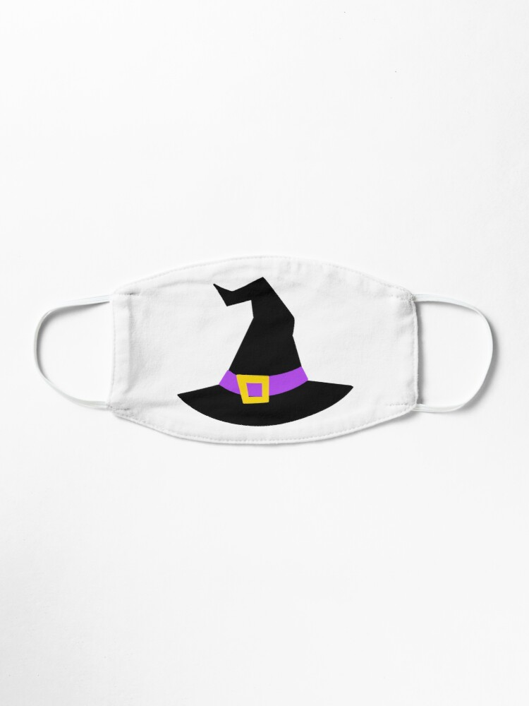 Cute Witch S Hat Purple Mask By Planeandsimple Redbubble