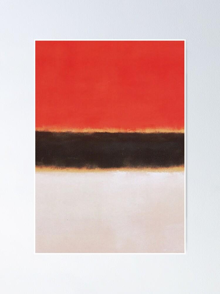 mark rothko malstil kunst weiss orange schwarz 8 poster von salahblt redbubble