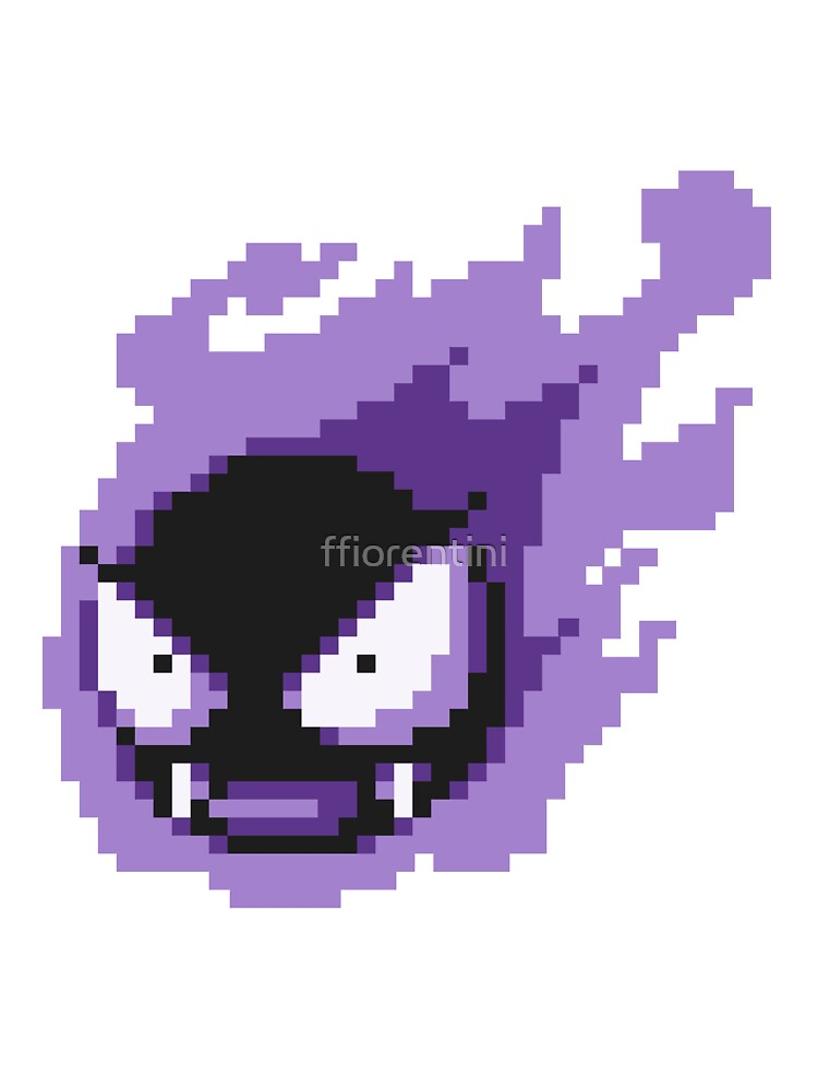 Pokemon  Gastly Sprite by ffiorentini  Redbubble