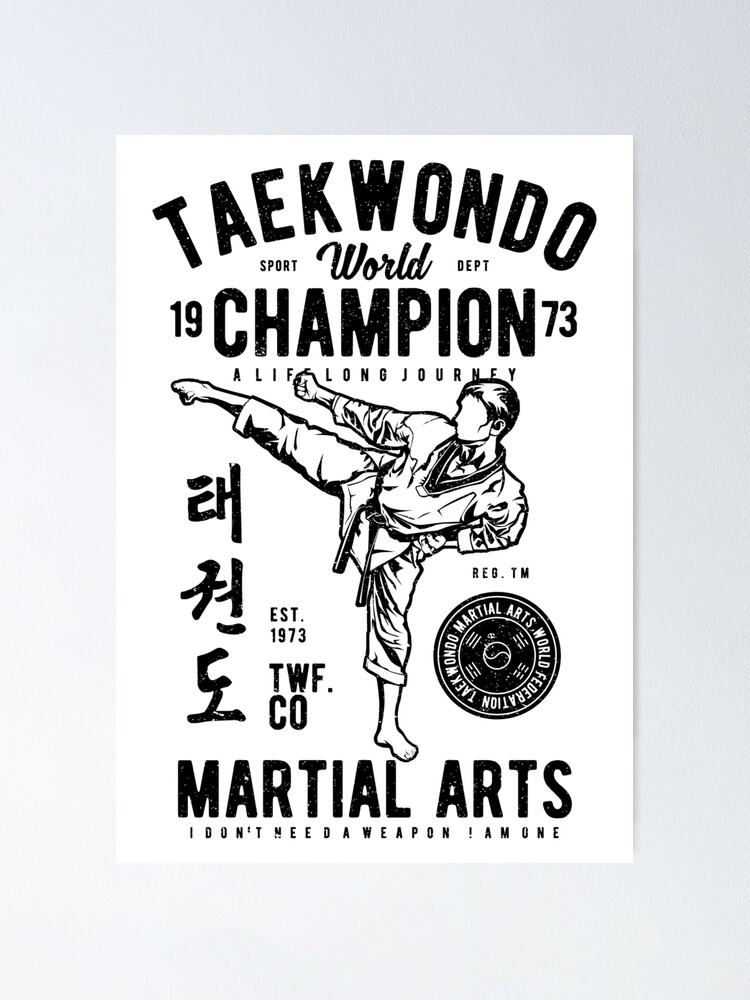 taekwondo world championship martial arts poster von wkyip79 redbubble