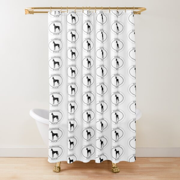 oval shower curtains redbubble
