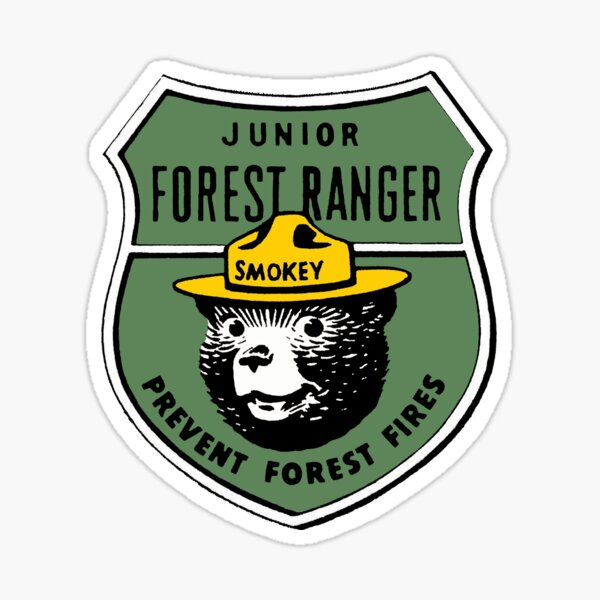 Afterwards, just mail the booklet back to the national park service where a ranger reviews it and mails the earned badge back for free. Smokey Forest Ranger Sticker By Chuckleharski Redbubble