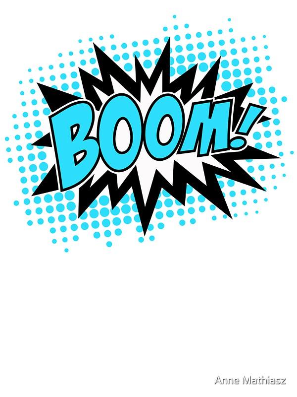 Superhero Cartoon Explosion Boom