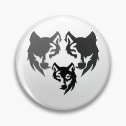 I Love Wolf Pins and Buttons Redbubble