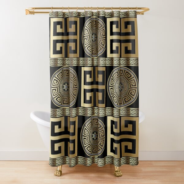 greek shower curtains redbubble