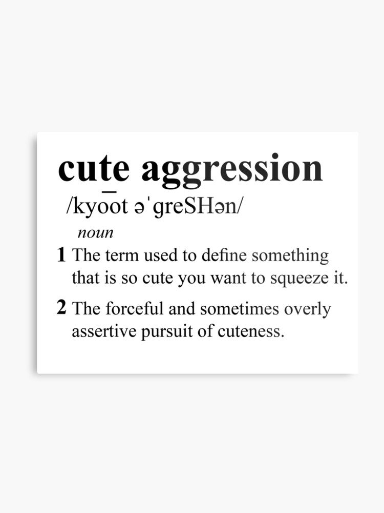 cute aggression definition black