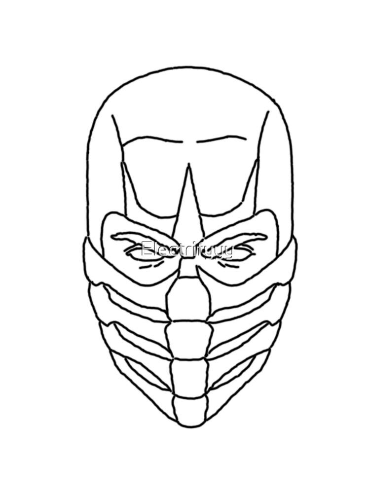Scorpion Outline Mortal Kombat