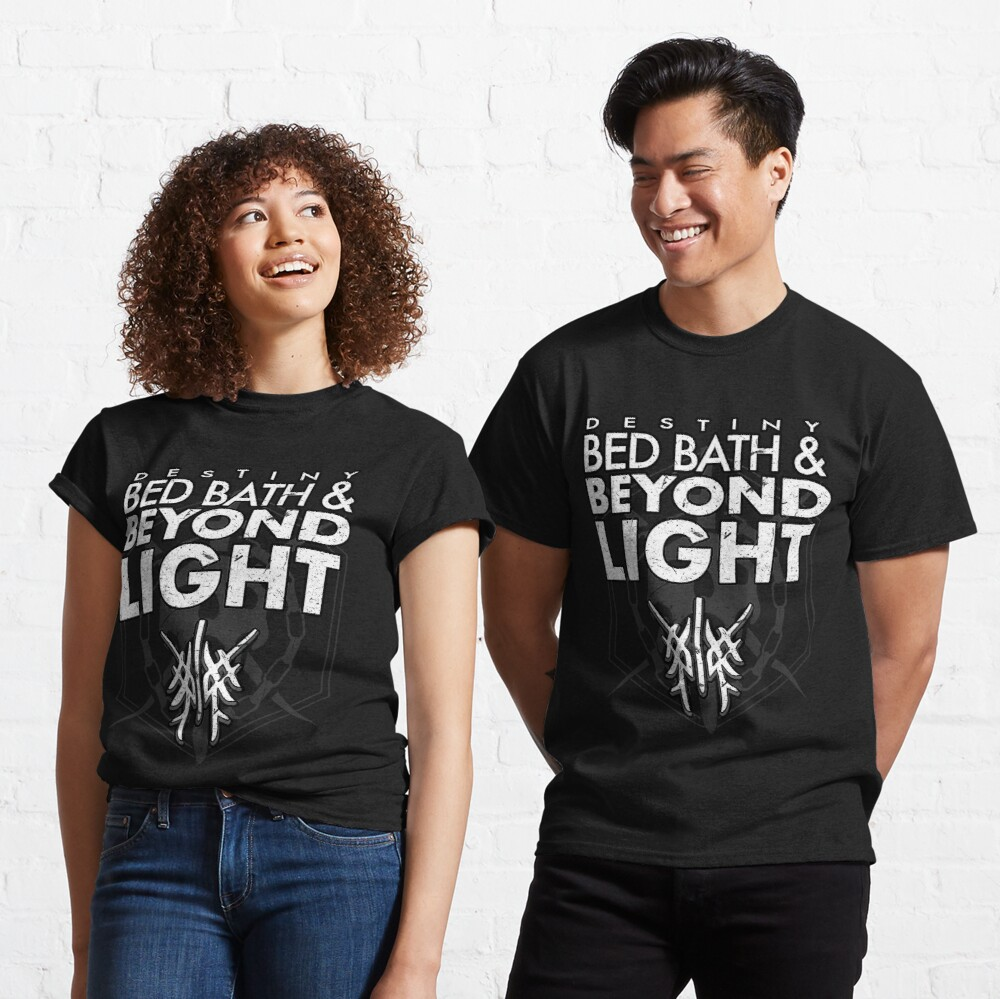 bed bath beyond light t shirt by fancynarwhal redbubble