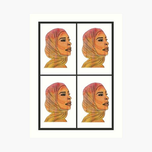 «la ragazza in foto indossa un hijab,. Headscarf Art Prints Redbubble