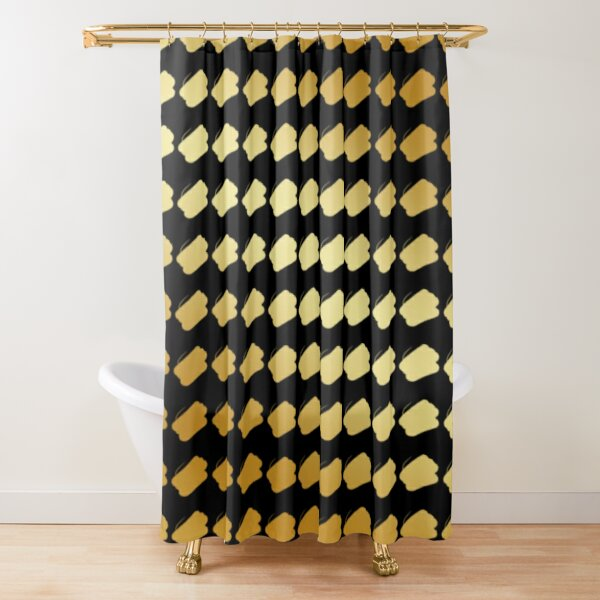 gold on black shower curtains redbubble