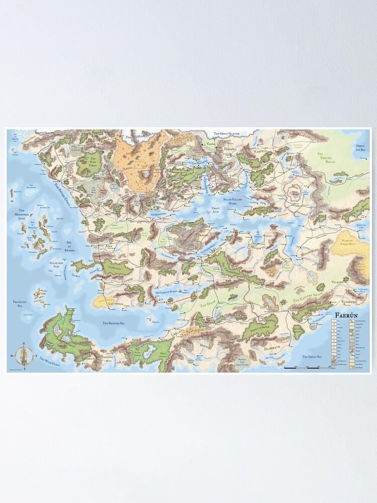 Faer�n Map : faer�n, Forgotten, Realms, (3.5e)