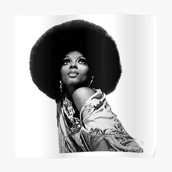 poster diana ross redbubble