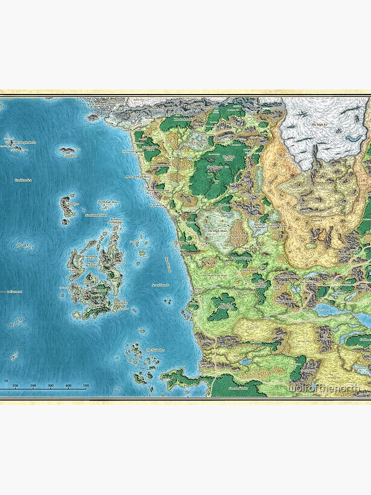 Map Of Fearun : fearun, Faerûn, Duvet, Cover, Wolfofthenorth, Redbubble