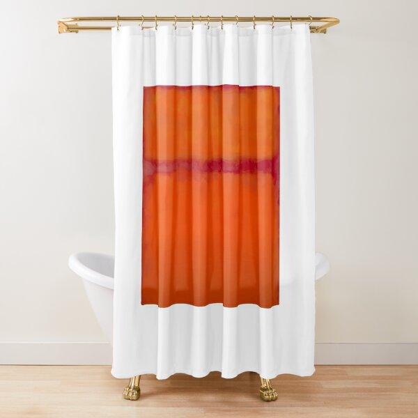 mark rothko orange shower curtains redbubble